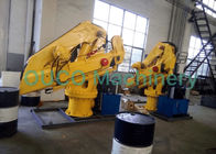 Folding Boom Marine Crane Customer Design 2T@6M Hydraulic Telescopic Pedestal Crane