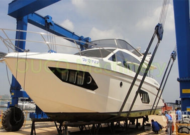 Yacht Mobile Harbour Crane، Blue Color Seaport Crane Steel Structure